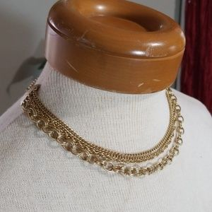 Jewelry - Vintage Gold multi layer necklace
